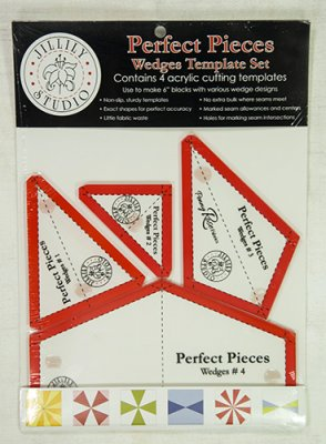 Perfect Pieces Wedges Template set 4 st acryl mallar att skära efter